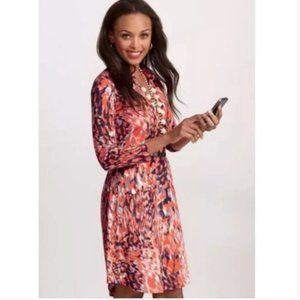 Cabi Watercolor Jersey Shirt Dress M